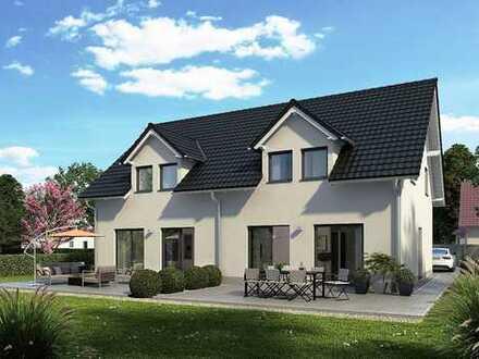 Neubauprojekt: 2 DHH in der Massivbauweise optional mit Keller, inkl. Grundstück, Top Lage..!