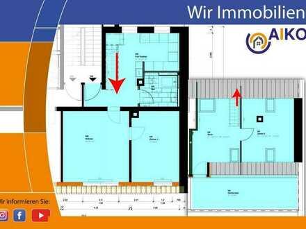 Schöne 4 Zi. Maisonette-Wohnung mit großer Dachterrasse - nach Kernsanierung