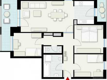 Attraktive 4 Zimmer Wohnung in zentraler Lage