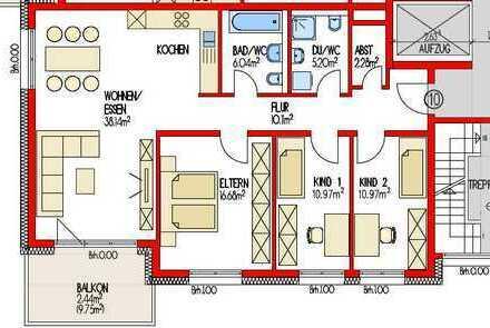 (860) Eigentumswohnung im 1. Obergeschoss  - Neubau -