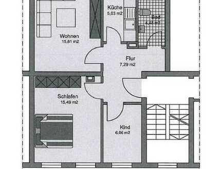 Helle und geräumige 3 Zi. Wohnung