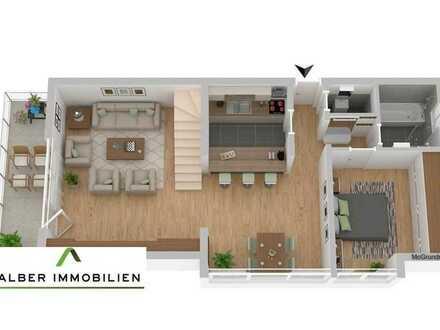 Besondere 3 Zimmer Maisonette Wohnung, EBK, Balkon, Garage, sofort frei