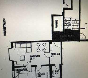 Stilvolle, gerade in Sanierung 2-Zimmer-Wohnung mit gehobener Innenausstattung