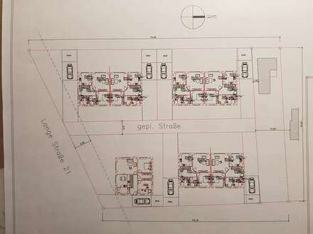 Neubauvorhaben von drei Doppelhäusern in Zetel, Lange Str.