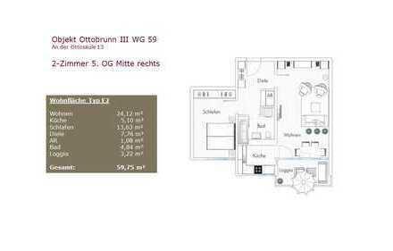 NEU Renovierte 2-Zimmer Wohnung mit Balkon in Ottobrunn