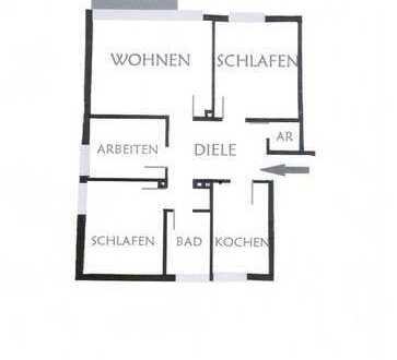 Vollständig renovierte 4-Zimmer-Wohnung mit Balkon in Bochum