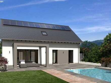 Wohnen im Grünen mit neuen modernem Doppelhaus mit Einliegerwohnung in Büchenbach Aurau