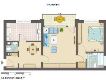 Modernisierte 2,5-Raum-Wohnung mit Balkon und Einbauküche in Dortmund Süd - Rombergpark