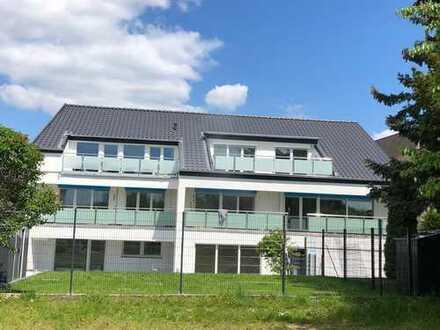 SW-Lage am Rhein, Erstbezug mit Garten, super helle, luxuriöse 3-Zimmer-Wohnung