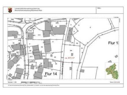 Baugrundstück mit 875 m² in Morbach-Wederath