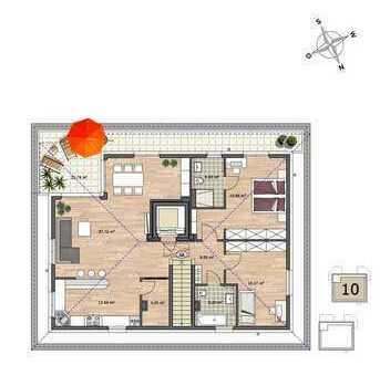 +++ Neubau: Tolles Penthouse mit großer Dachterrasse +++