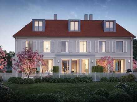 Baubeginn: Direkt an Stadtpark und Würm, traumhaftes Eckhaus mit Südgarten in der Villenkolonie