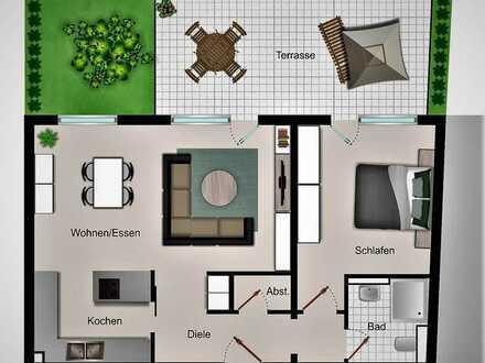 Stufenlose Erdgeschoss-Wohnung mit hohem Qualitätsstandard als vermietete Kapitalanlage