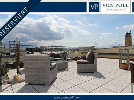 Attraktive Stadtwohnung mit Dachterrasse und Panoramablick in bester Lage