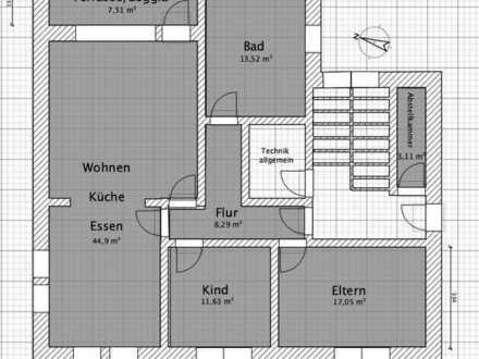 ETW im EG-Terrasse-Garten-DG-Erstbezug nach Sanierung