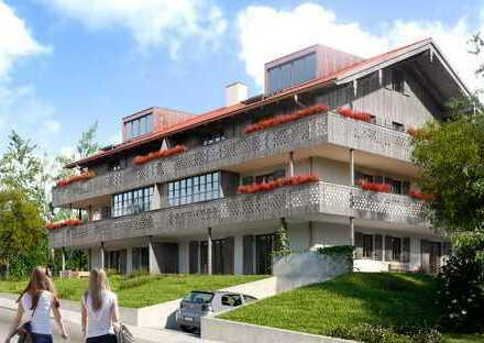 ERSTBEZUG: In ruhiger, sonniger Bestlage: NEUBAU- 1.OG-Wohnung mit herrlichem Bergpanoramablick