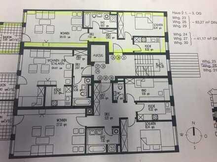 Vollständig renovierte 2-Zimmer-Wohnung mit Balkon und Einbauküche in Augsburg