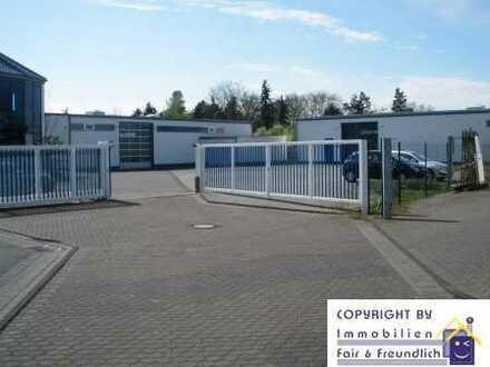 ATTRAKTIVE GEWERBEHALLE mit 6 PKW-Stellplätzen, LKW-Stellplatz u. Freifläche ca. 365 m²