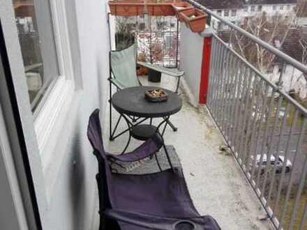 Geschmackvolle Wohnung mit einem Zimmer sowie Balkon und Einbauküche in Coburg