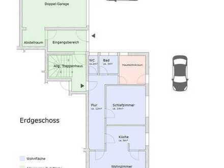 2-Zimmer-Wohnung mit Garten in Ehingen zu vermieten