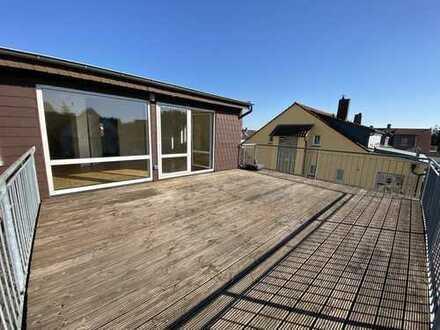 Moderne 1-Zimmer-Wohnung mit großer Dachterrasse+Garten*opt.Garage*EBK*mit VIDEO