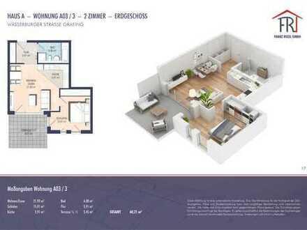 Neubau mit Charme: 2-Zimmer-Gartenwohnung in Grafing