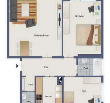 Gepflegte 3-Zimmer-Wohnung / EG in guter Lage
