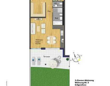 Exklusive 3-Zimmerwohnung im EG ( Haus 1 Whg. 3 )