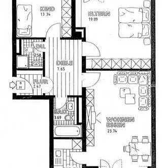 Sehr gut geschnittene 3-Zimmer-Wohnung in Augsburg's Klein Venedig