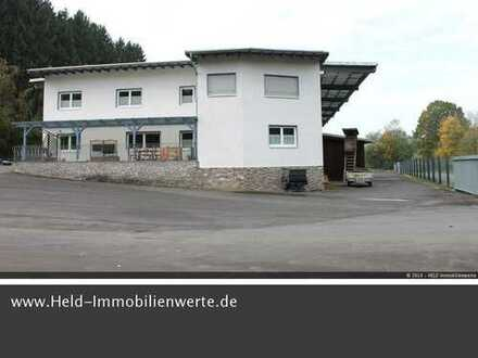 Erstklassiger Gewerbekomplex: Hochwertige Lager- u. Produktionsflächen plus Büro- u. Wohnflächen.