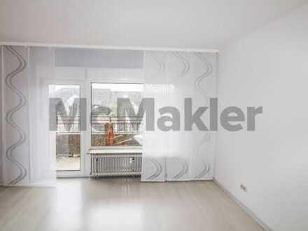 Sofort verfügbar, gepflegt, zentral: 1-Zi.-Apartment mit Süd-Ost-Balkon und Pantry-Küche