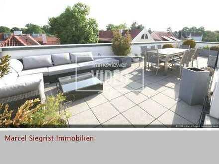 Köln-Junkersdorf im alten Dorfkern: Penthouse-Maisonettewohnung mit sehr grosser Dachterrasse
