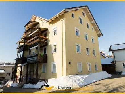 Helle 3-Zi.-ETW mit Südbalkon und Garage in einem Mehrfamilienhaus in Kempten-St. Mang