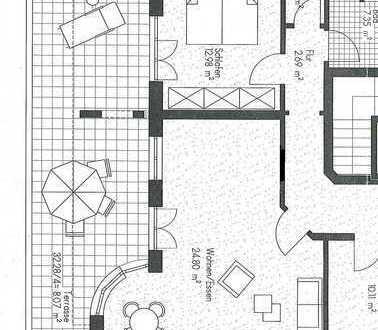 Ansprechende 3-Zimmer-Erdgeschosswohnung mit Balkon und Einbauküche in Augsburg