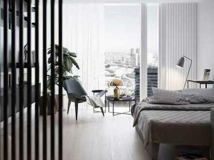 Individuelles Studio mit bodentiefen Fenstern in der Mainmetropole Frankfurt