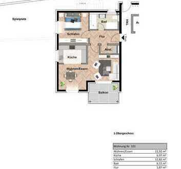 Helle 2,5 Zimmer Wohnung mit Aussicht 1.OG