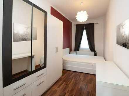 Einzelbetten in einer gemütlichen 3-Zi.-Wohnung zu vermieten