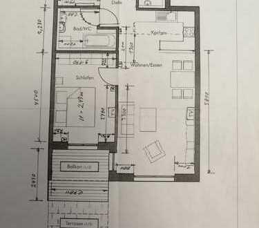 Wunderschöne, gemütliche und helle 2-Zimmer-Wohnung mit Balkon in Tettnang