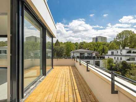 Luxus-Penthouse am Herzogpark mit Dachterrasse - Einmalige Lage und extravagante Ausstattung