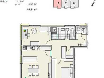 Neubau: Moderne 3-Zimmer-Wohnung mit EBK und Süd-Balkon in Ulm