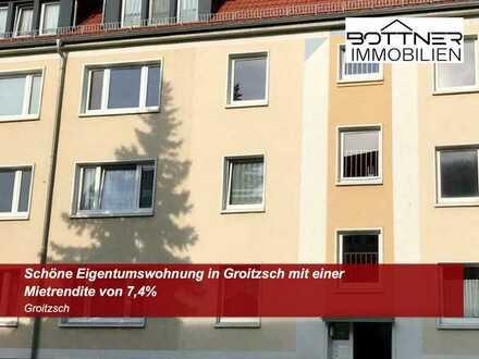 Schöne Eigentumswohnung in Groitzsch mit einer Mietrendite von 7,4%