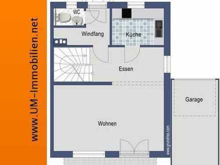 Sehr gepflegte DHH mit Kachelofen, EBK, Garten, Doppel-Garage und PV-Anlage