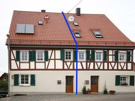 Saniertes Einfamilienhaus - Doppelhaushälfte mit viel Platz und Gartengrundstück