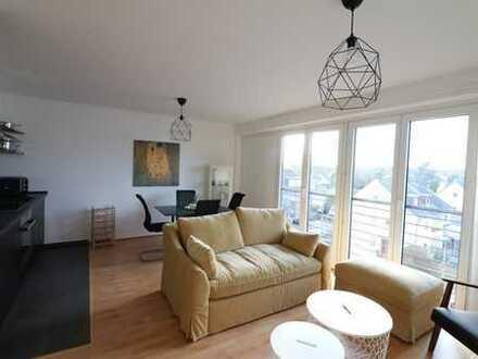 Möblierte und voll ausgestattetes Penthouse über den Dächern von Köln