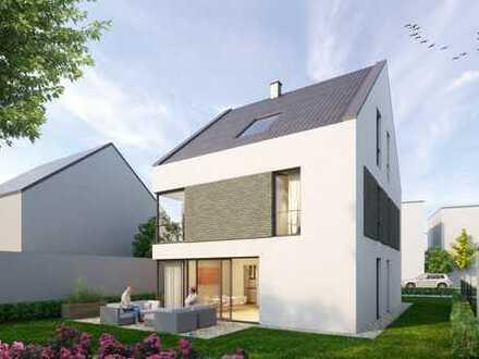 **SCHICK UND INDIVIDUELL* frei stehendes Einfamilienhaus, ca 126 m² zuzügl. Ausbaureserve im DG