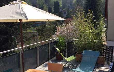 Schloss-Wolfsbrunnenweg - exklusive 4-Zimmer-Maisonette-Wohnung, herrlicher Blick und große Terasse