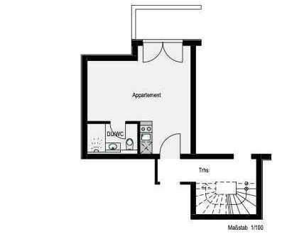 Attraktive 1-Zimmer-Wohnung zur Miete in Reutlingen-Rommelsbach