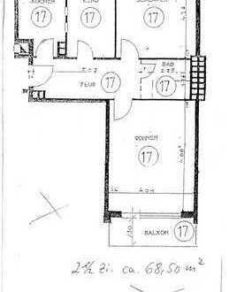 Exklusive, gepflegte 2,5-Zimmer-Wohnung mit Balkon und Einbauküche in Eilbek, Hamburg