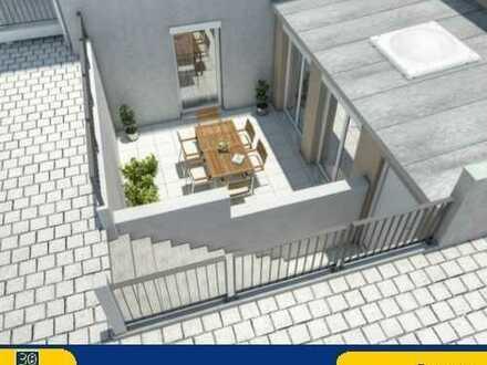Lichtdurchflutete Souterrain Wohnung mit Terrasse in ruhiger Lage