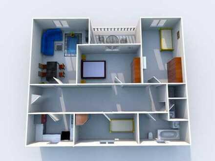 *WBS nötig* Familienfreundliche Wohnung im Dachgeschoss mit Dachterrasse